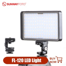 Sunwayfoto FL 120 Led Video Licht Dimbare Fotografie Verlichting Op Camera Fill Light Lamp Voor Dslr Nikon Canon Fotografieverlichting    -
