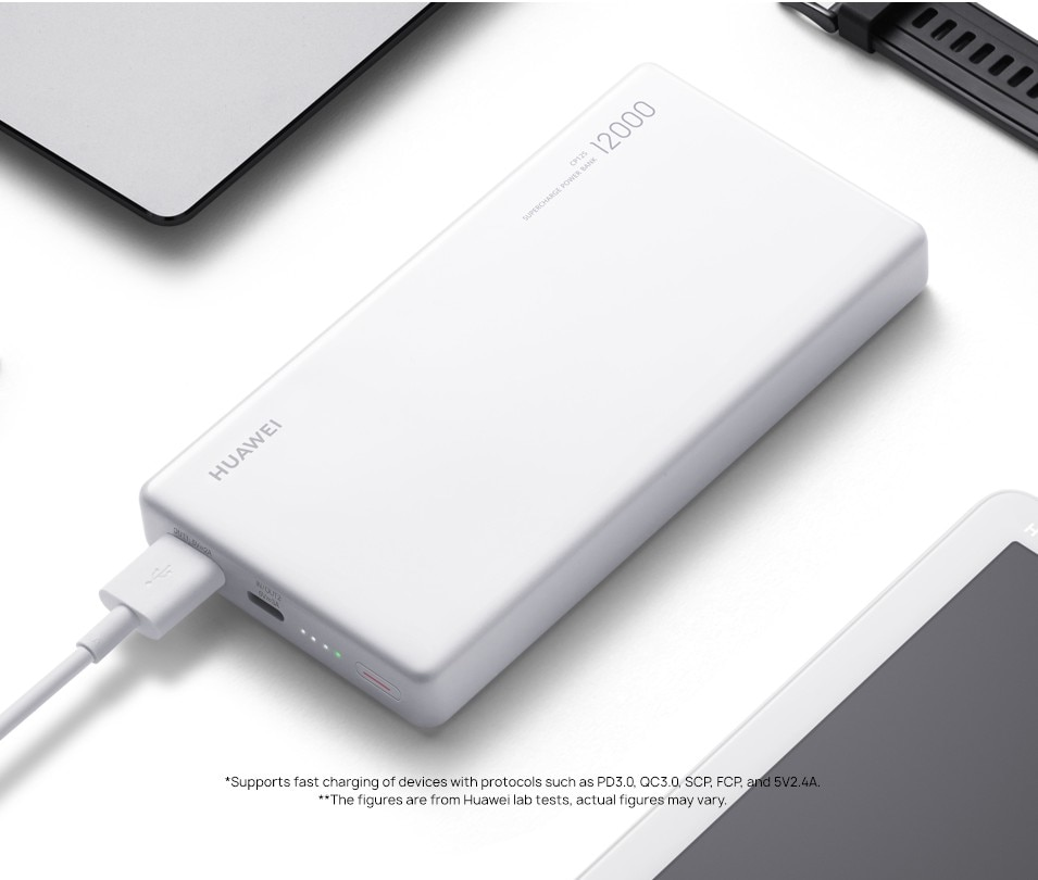 HUAWEI Power Bank 12000mAh 40W Supercharge Type-A/Type-C Output Laptop Charging Support Universal Compatibility Power Charger