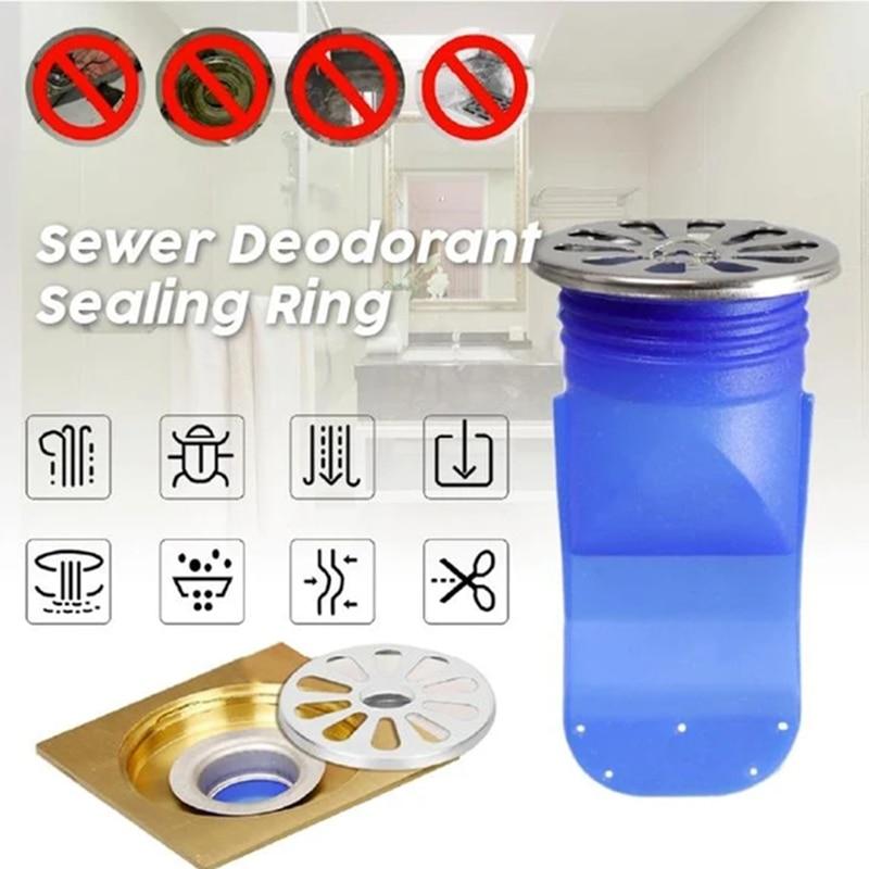 Nowy zestaw pierścieni uszczelniających do usuwania zapachów kanalizacyjnych rdzeń silikonowy rury kanalizacyjne pierścień uszczelniający łazienka pralka XD88