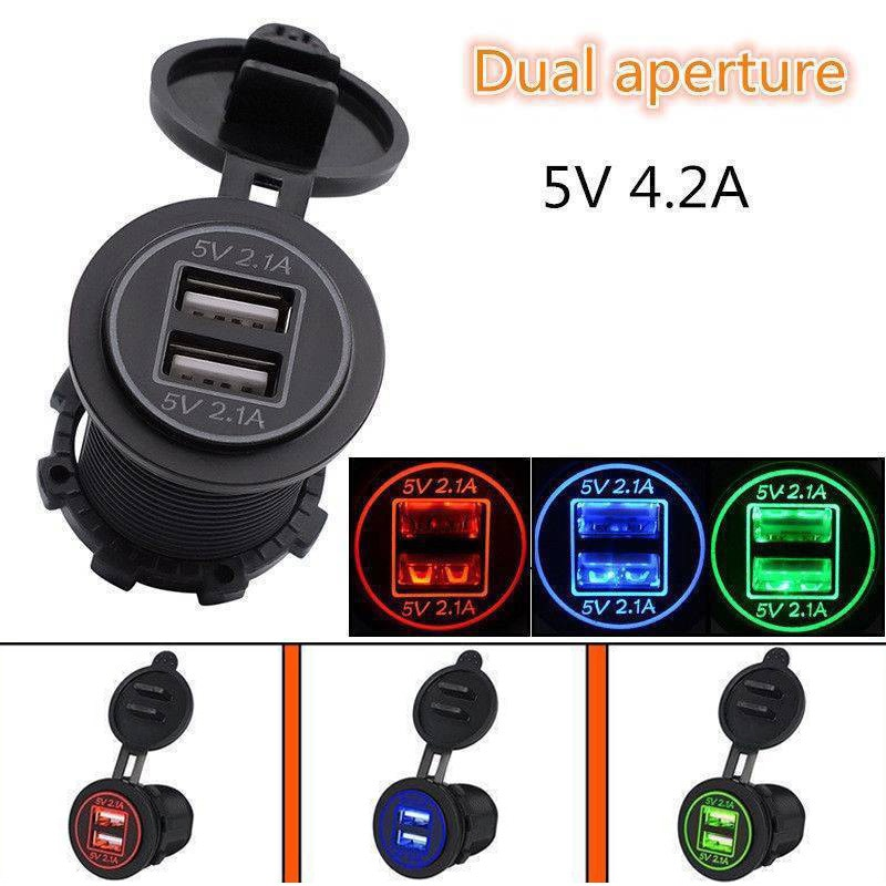 Dual Auto USB Charger Socket LED Display with Caps For DC 12V 24V Dual USB Socket Charger Power Adapter Outlet Power charger uninterruptible power energy гарант 2000 economical idle running colored led display