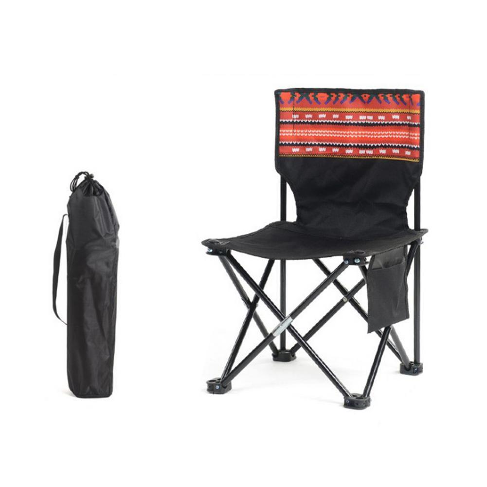 Silla Plegable para acampar, ultraligera, portátil, para Playa y Pesca