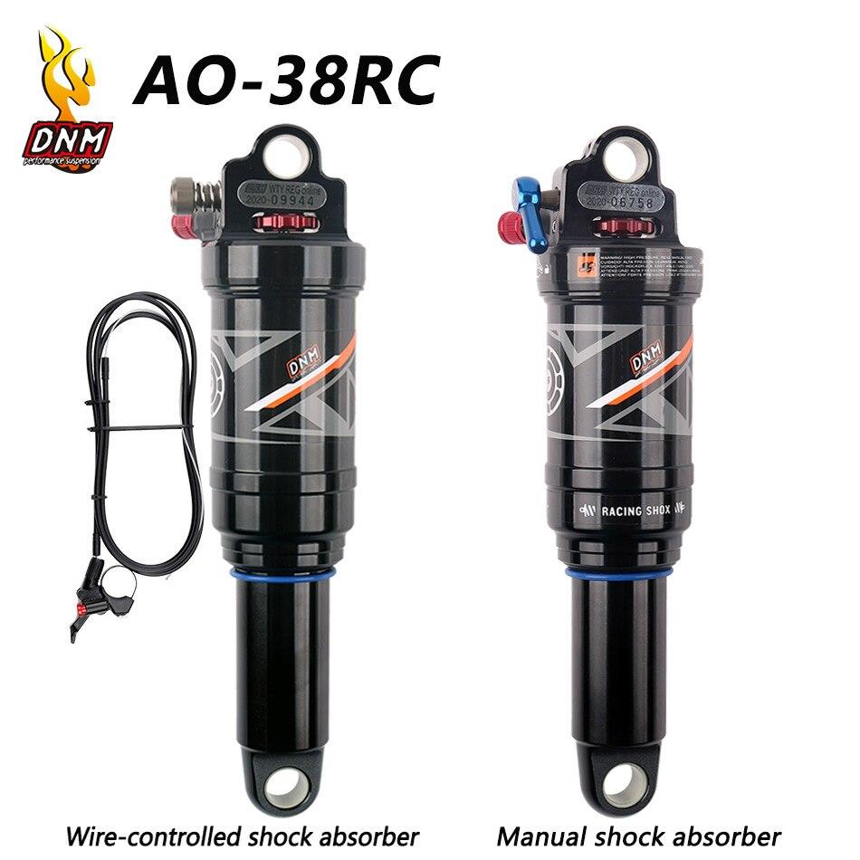 DNM AO-38RC bicicleta de montaña aire choque trasero 165/190/200/210mm MTB Downhill bicicleta Bobina cable de descarga trasero ontrol/Control de mano