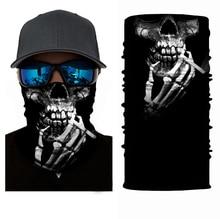 Haute élastique 3D crâne sans couture Bandana cyclisme écharpe hommes accessoire cheveux pour femme cou guêtre Tube vélo Ski randonnée magique Bandana cagoule