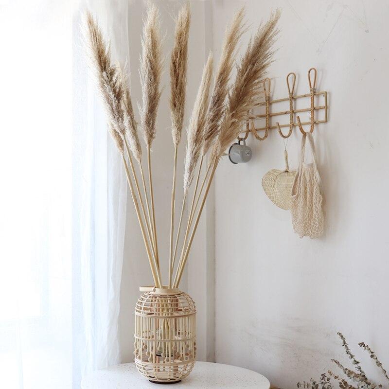 10 Uds. Decoración especial de boda Pampas Grass de gran tamaño pluma esponjosa flores de boda plantas naturales flores blancas secas 31,4 pulgadas