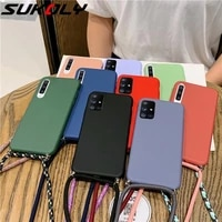 liquid silicone lanyard phone case for samsung galaxy a52 a72 5g a22 a42 a51 a71 a50 a70 note 20 s21 plus s20 fe samsung s21 fe