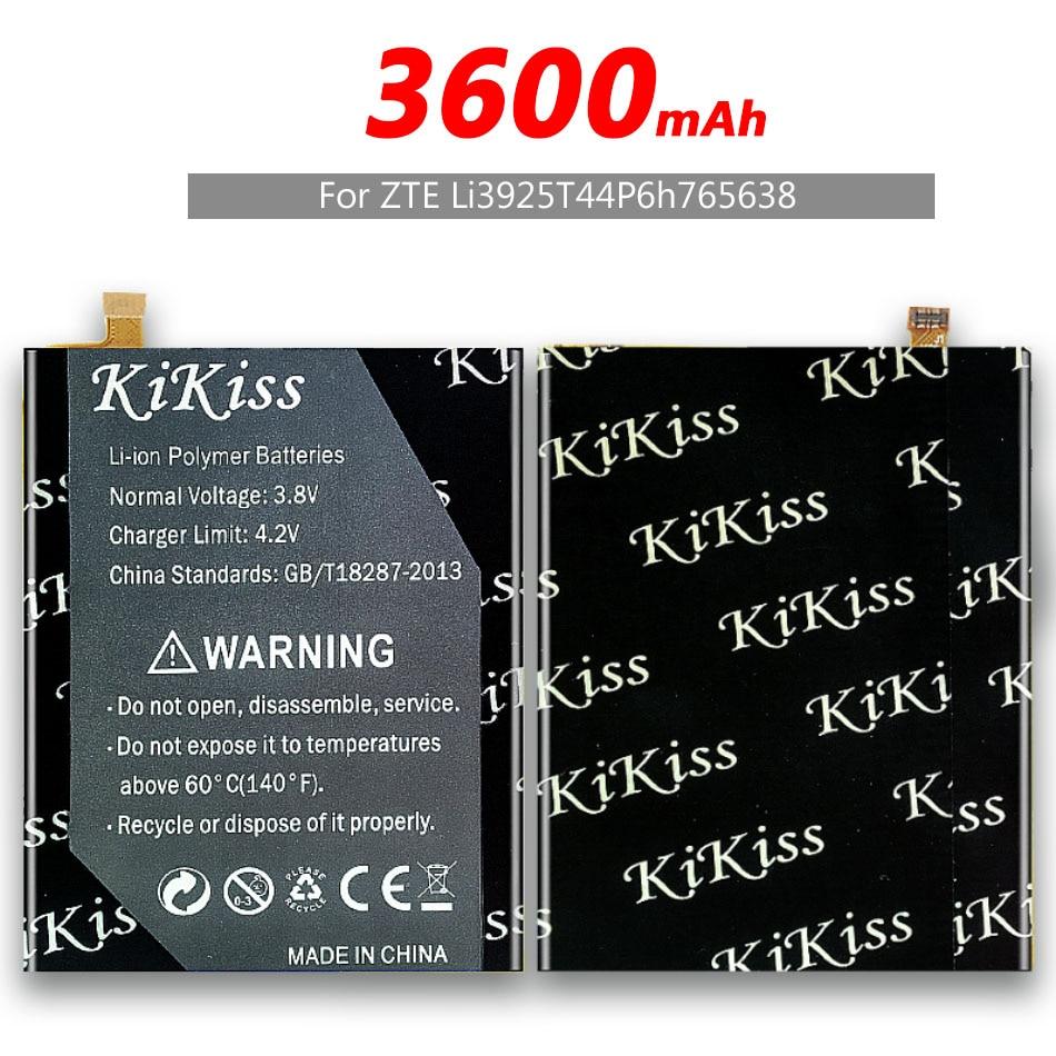 Ferramenta livre 3600 mah original kikiss li3925t44p6h765638 bateria para zte lâmina v8 lite 5.0-inch baterias do telefone móvel + trilha não.