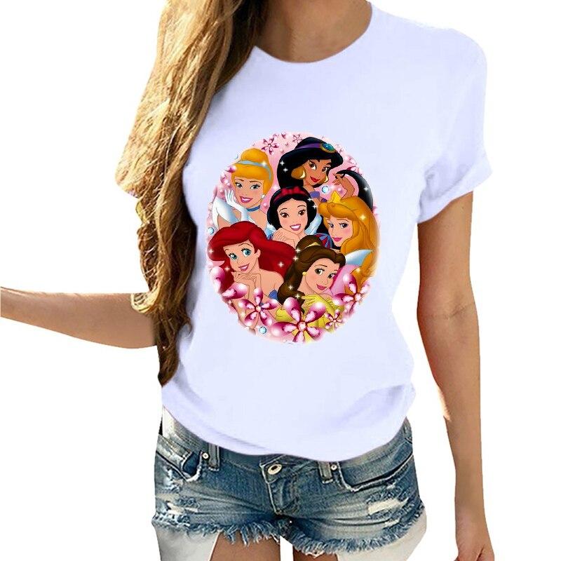 Mujeres de dibujos animados Flor de dibujos animados lindo de manga corta ropa de verano Vogue camiseta camisa Camisas Mujer Tumblr camiseta Mujer T camisa camisetas