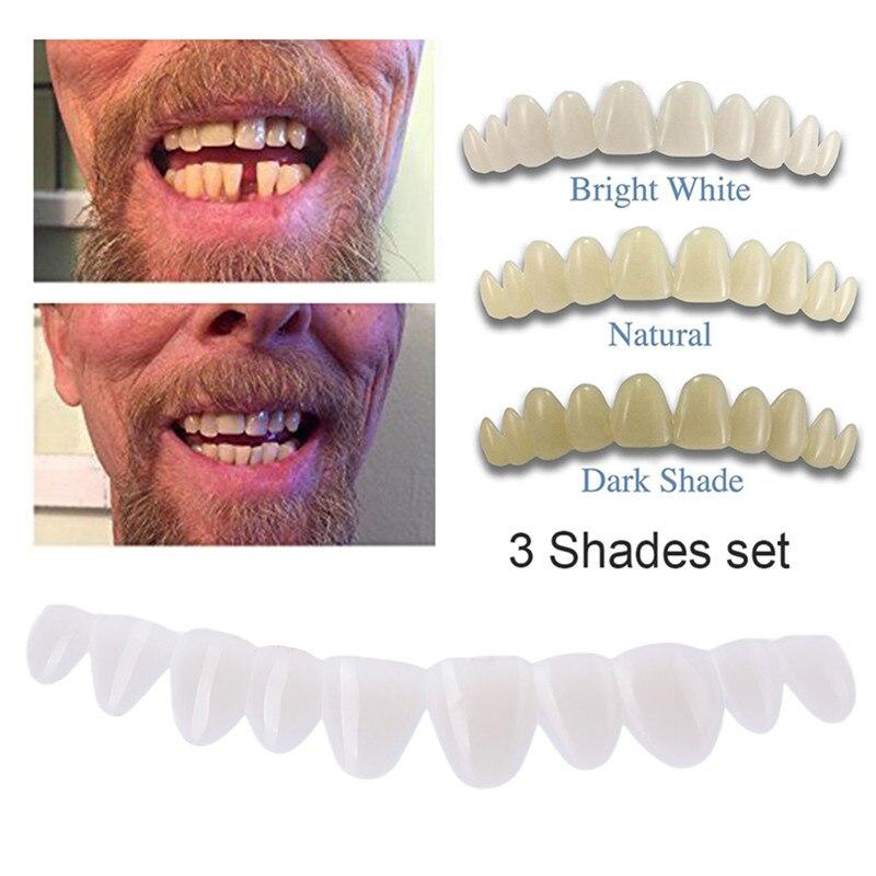 Dentadura postiza Dental temporal, Juego de 3 sombras, para dentaduras postizas, aptas para dentaduras de Dentadura