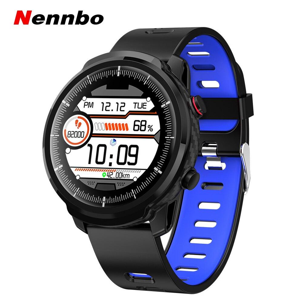 Nennbo L3 completamente táctil reloj inteligente de las mujeres de los hombres de deportes reloj de monitor, con avisos de recordatorio reloj inteligente para IOS Android Teléfono