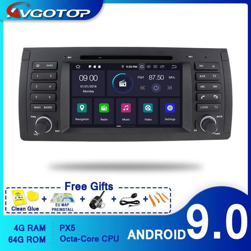 AVGOTOP reproductor Multimedia 2 + 16GB/4 + 64GB, Android 9, Bluetooth, GPS para coche, para BMW E39 /BMW X5-E53/Land Rover Range Rover 2002-2004