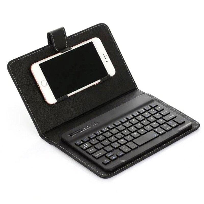 Из искусственной кожи чехол Micro USB клавиатура подставка чехол для Android защитный мобильный телефон чехол с Bluetooth клавиатурой