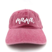 new mama hat pregnancy announcement 100% cotton washed unstructured embroidery sports baseball cap f