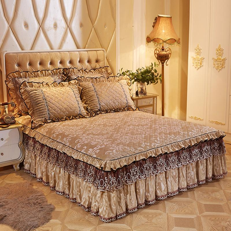 43X160X200 cm acolchado colcha edredón doble reina rey tamaño de cama juegos de cama sábana cubierta de cama de parure de lit adulte ropa de cama