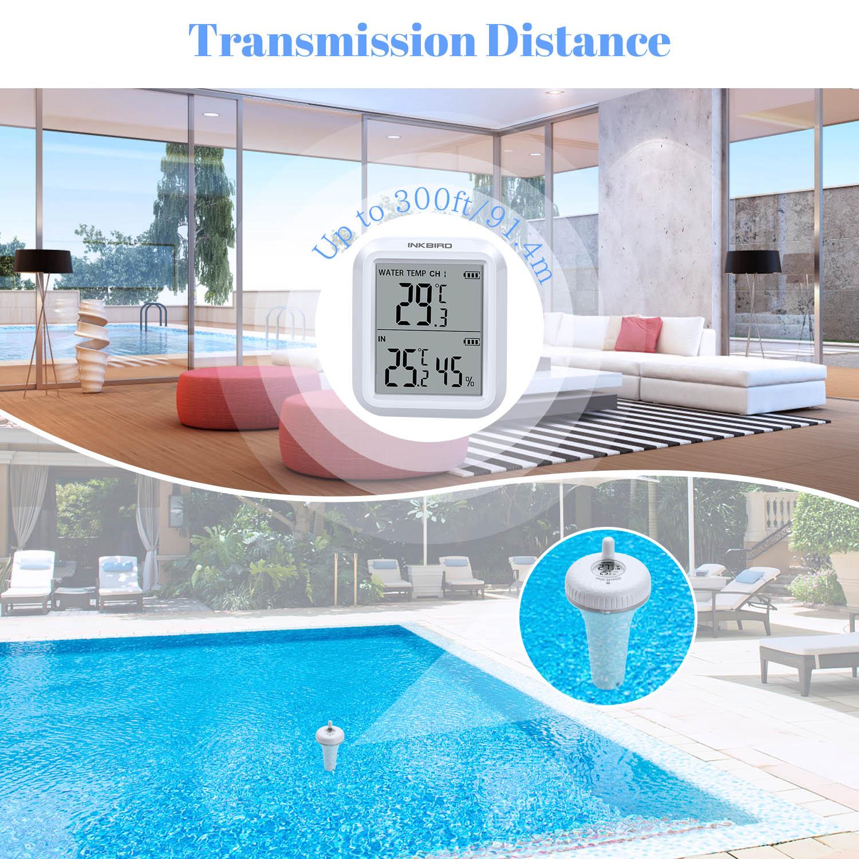 Inkbird IPX7 مقاوم للماء حمام سباحة ميزان الحرارة 433Mhz نقل لاسلكي العائمة ميزان الحرارة Meterfor سبا بركة حوض الربيع