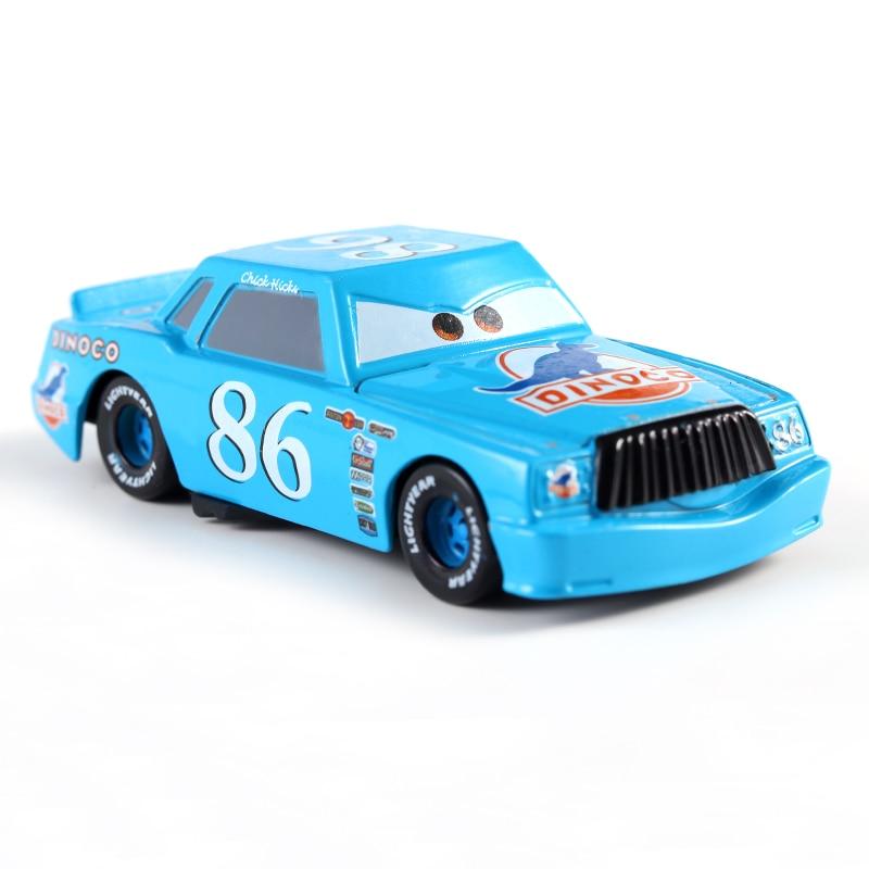 Disney Pixar Cars 2 3 Lightning McQueen Mater Jackson Storm Ramirez 1:55 Diecast Vehicle Metal No.86 Boy Kid Toys Christmas Gift