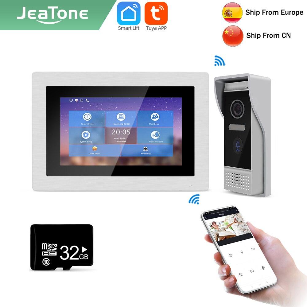 Jeatone تويا الذكية 7 بوصة واي فاي IP داخلي لمراقبة فيلا فيديو إنترفون المنزل الأمن العهد/720P شاشة حر اليدين 8770987203
