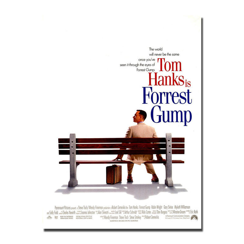 Forest GUMP tela de seda película pared póster arte decoración pegatina brillante