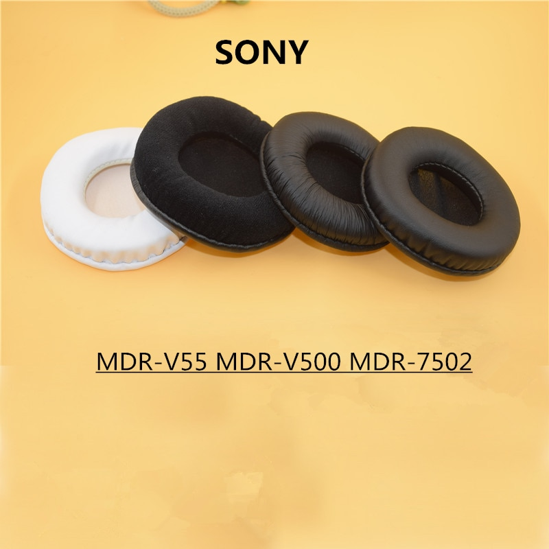 80mm oído reemplazo de almohadillas para Sony MDR-V55 MDR V500 V500DJ V55 MDR-7502 auriculares para Audio Technica ATH-WS99 WS70 WS77