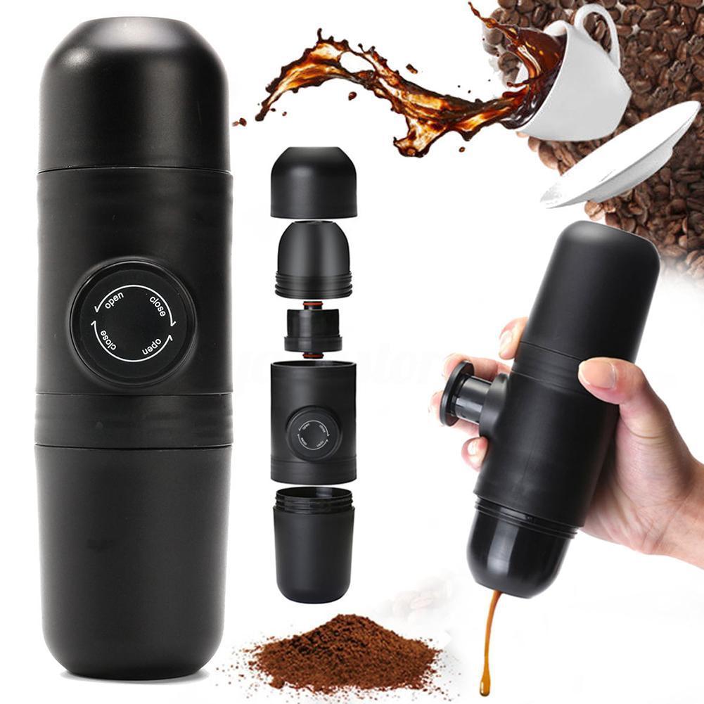 Фото - Ручная Кофеварка Womentalk, ручное управление, кофеварка для эспрессо, портативная кофеварка для путешествий на открытом воздухе кофеварка