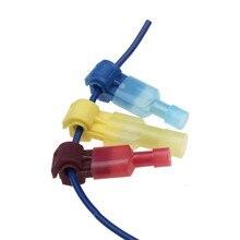 Bornes à épissure rapide 30 pièces   Combo t-tap/mâle, rouge bleu jaune, connecteurs de fil isolés 22-10 AWG