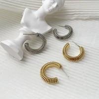 monlansher unique statement geometric stud earrings textured metal stud earrings minimalist daily earrings jewelry 2021 trend