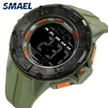 Smael Watch Big Dial Men Sports Watches Military Army LED Digital S shock Electronic Watch 1543 Lumi
