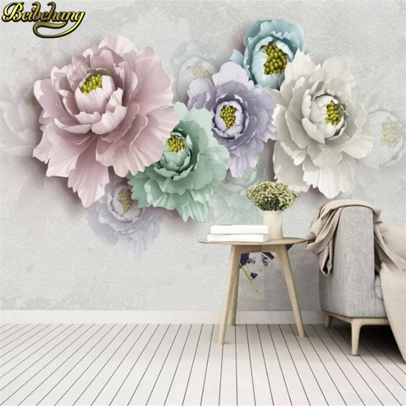 Papel pintado beibehang para pared, decoración del hogar, joyería de peonía, flores, pintura para pared, sala de estar, dormitorio, papel de pared 3d