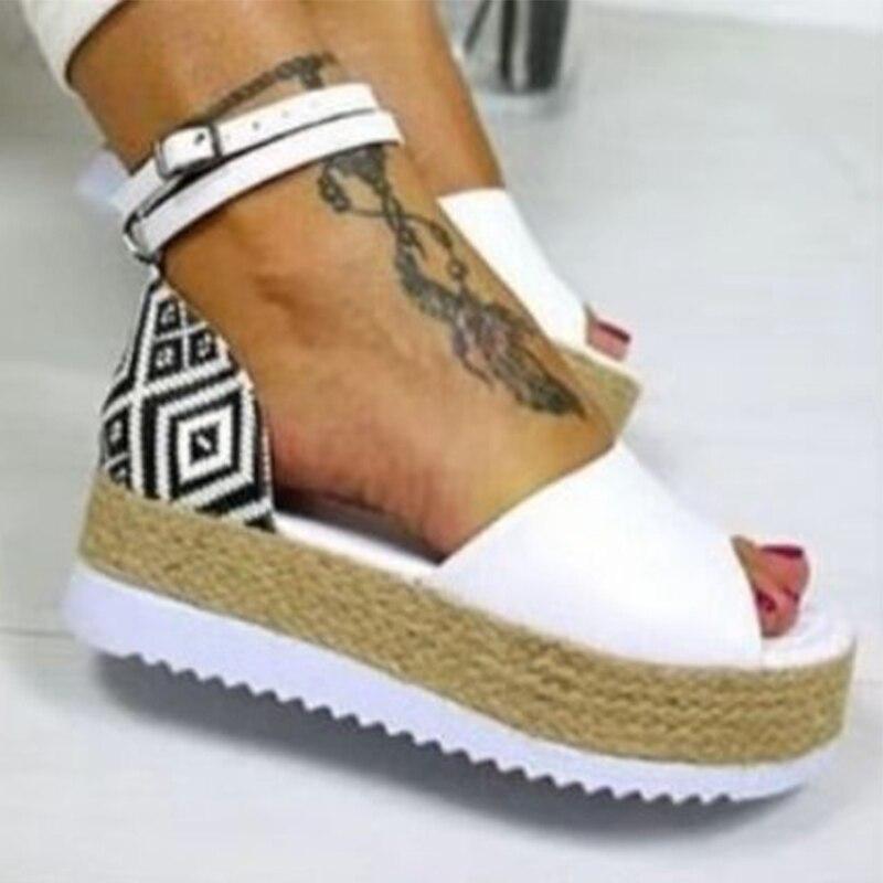 2020 Summer New Women Sandals Platform Sandals Wedges Shoes Women Heels Sandalias Mujer  Shoes Sandals Zapatos De Mujer NVLX14 chunky heel sandals punk shoes sandals high heels platform sandals women summer shoes sandalias romanas women s sandals yma160