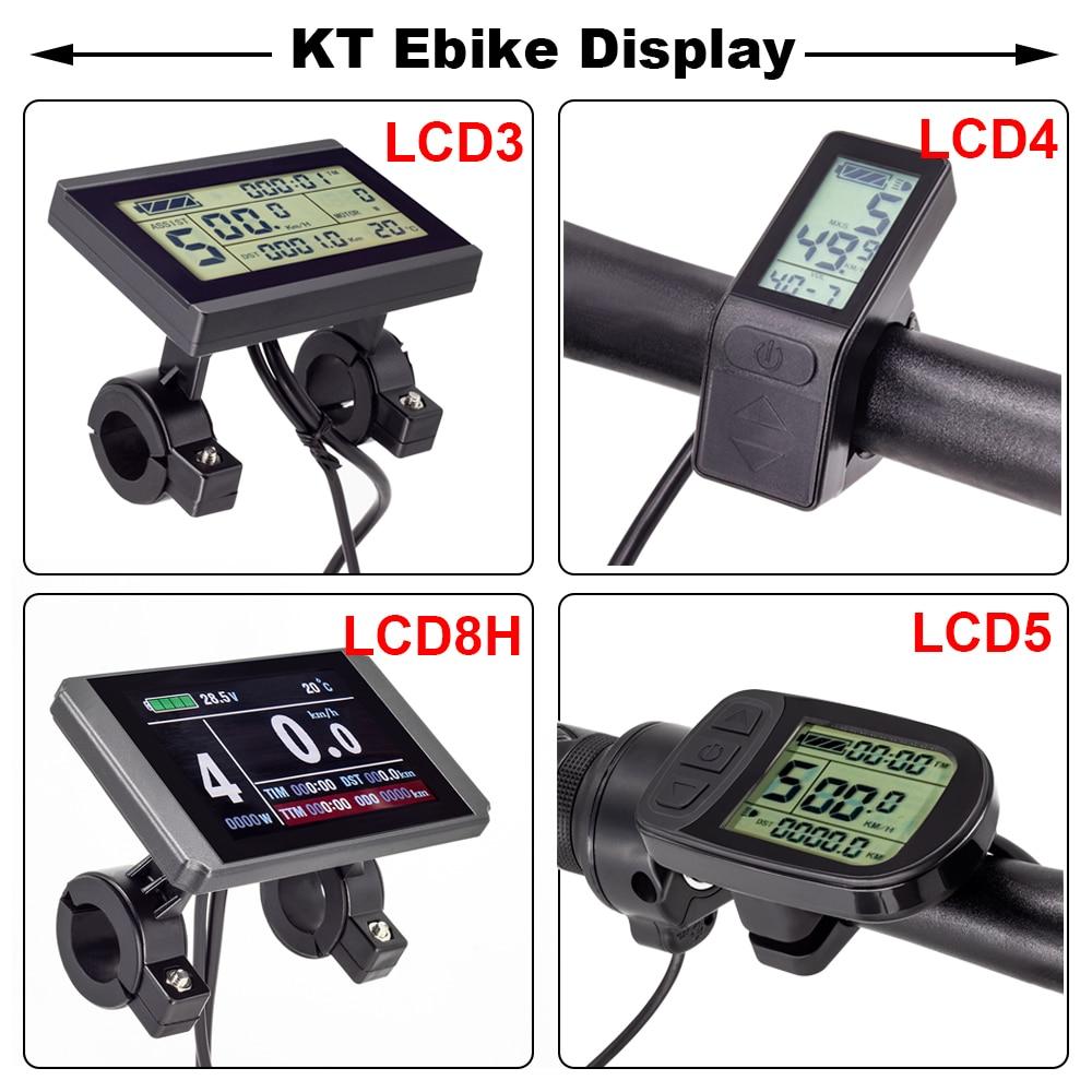 Ebike شاشة الكريستال السائل KT LCD3 LCD4 LCD5 شاشة ل KT تحكم 24 فولت 36 فولت 48 فولت E الدراجة عرض حاسوب مضاد للماء اكسسوارات