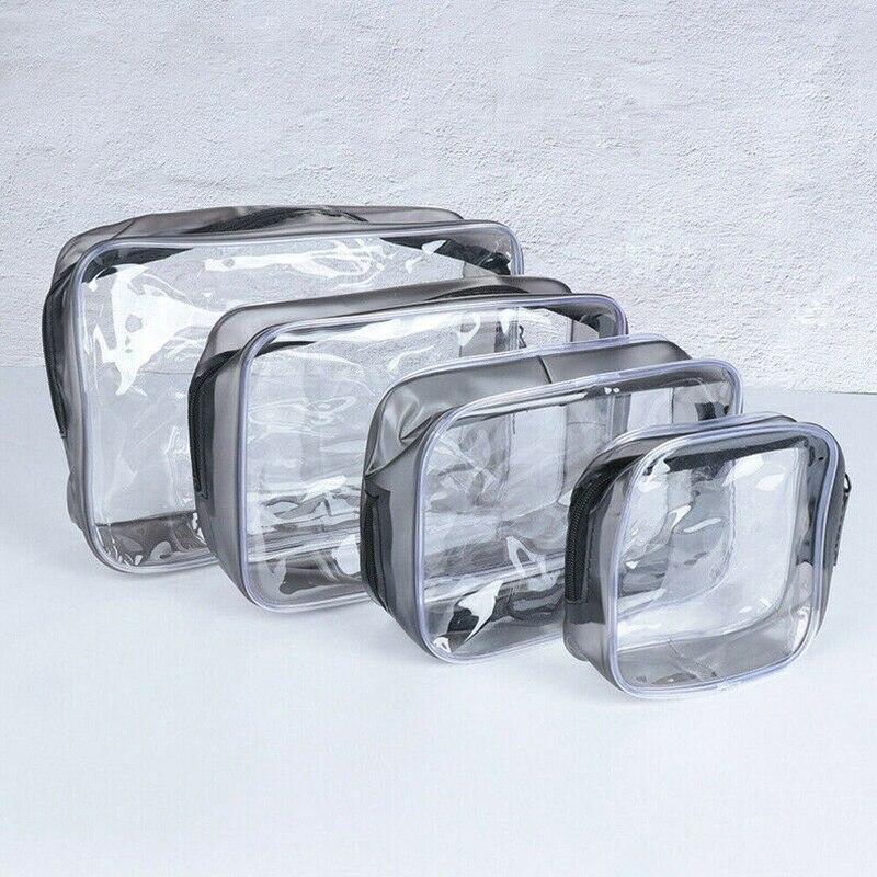 1PCWomen Travel PVC Transparent Portable Cosmetic Bags Makeup Storage Wash Bag Waterproof