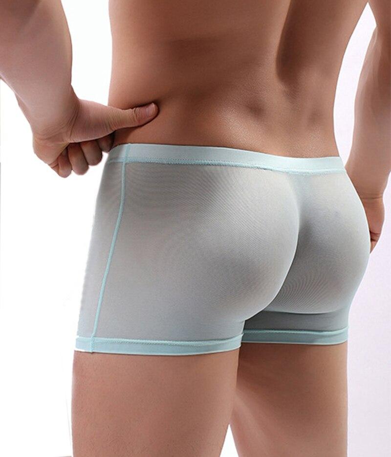 Men Boxer Shorts Underwear One Piece Sexy Transparent Mesh Boxers Man Panties Erotic See Through Slip Homme Onderbroek Mannen