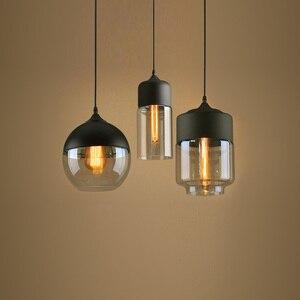 Nordic Modern LED Pendant Lights For Dining Room Kitchen Restaurant Decor Bedside Chandelier Bar Hanging Lamp Glass Lampshade