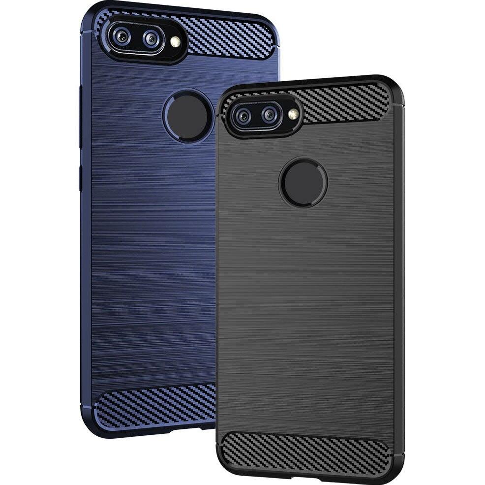 Shock Absorption Cover Soft TPU Anti Scratch Carbon Fiber Back Original Case for Xiaomi Mi 8 Lite Yo
