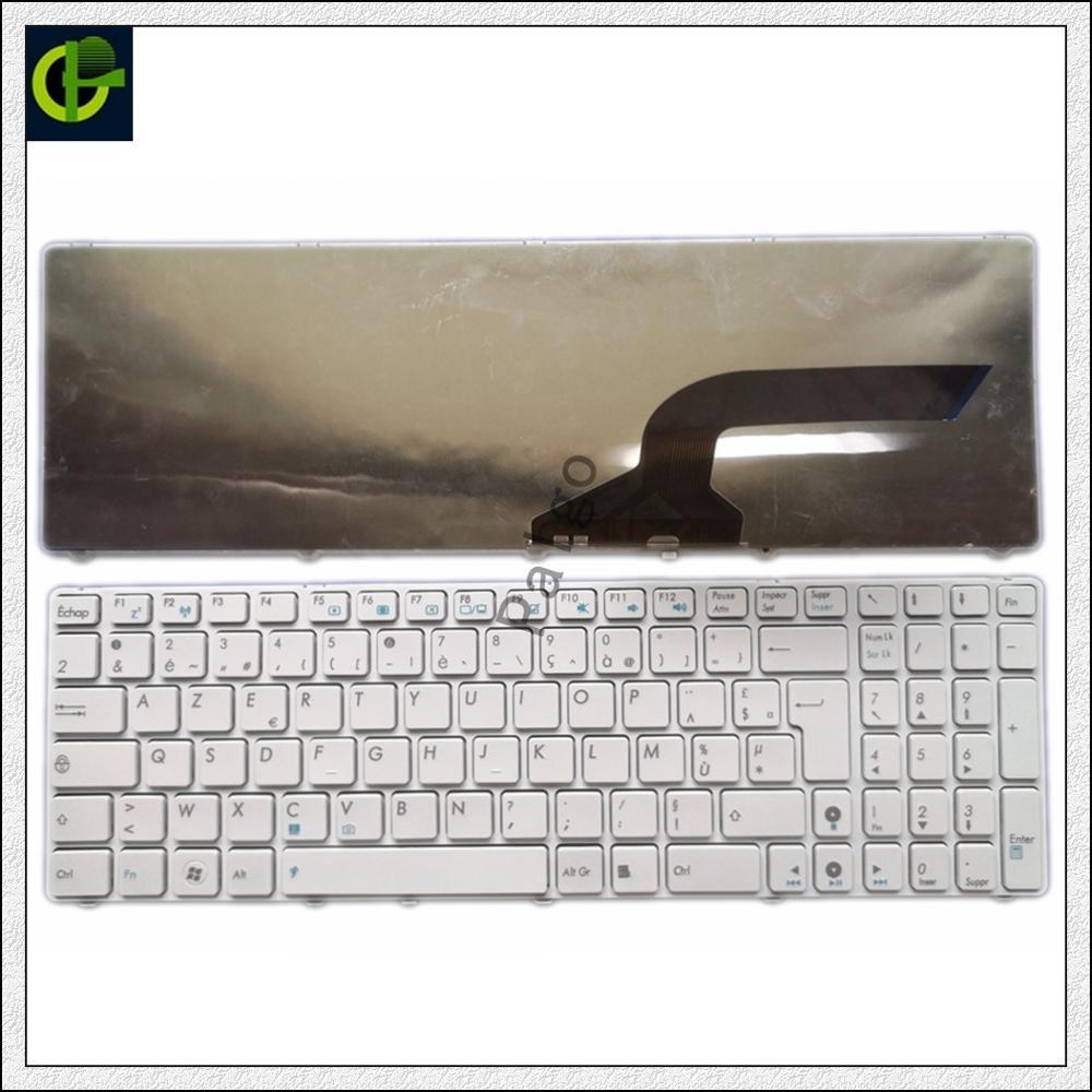 لوحة المفاتيح الفرنسية ازرتي الأبيض لآسوس MP-10A76F0-9201 AENJ2F00020 04GN0K1KFR00-2 FR