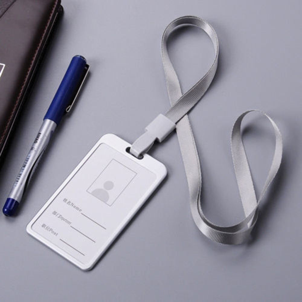 New Metal ID Badge Card Holder Business Security Pass Tag with Lanyard