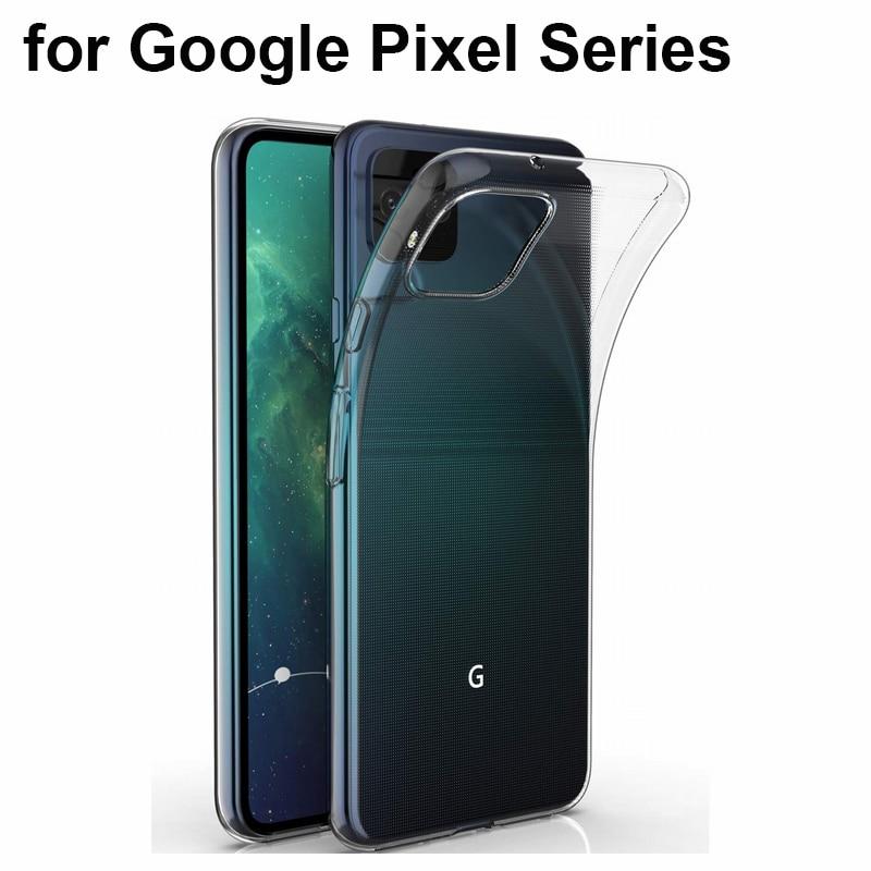 Holazing transparente transparente tpu gel borracha silicone macio caso para google pixel 4 3a 3 xl 2 ultrafinos capa para pixel 4a