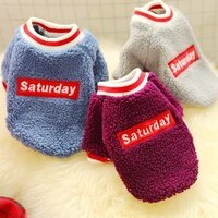saturday dog sweater coat winter warm pet clothes for chihuahua sweatshirt puppy cat pullover cold weather outfit apparel