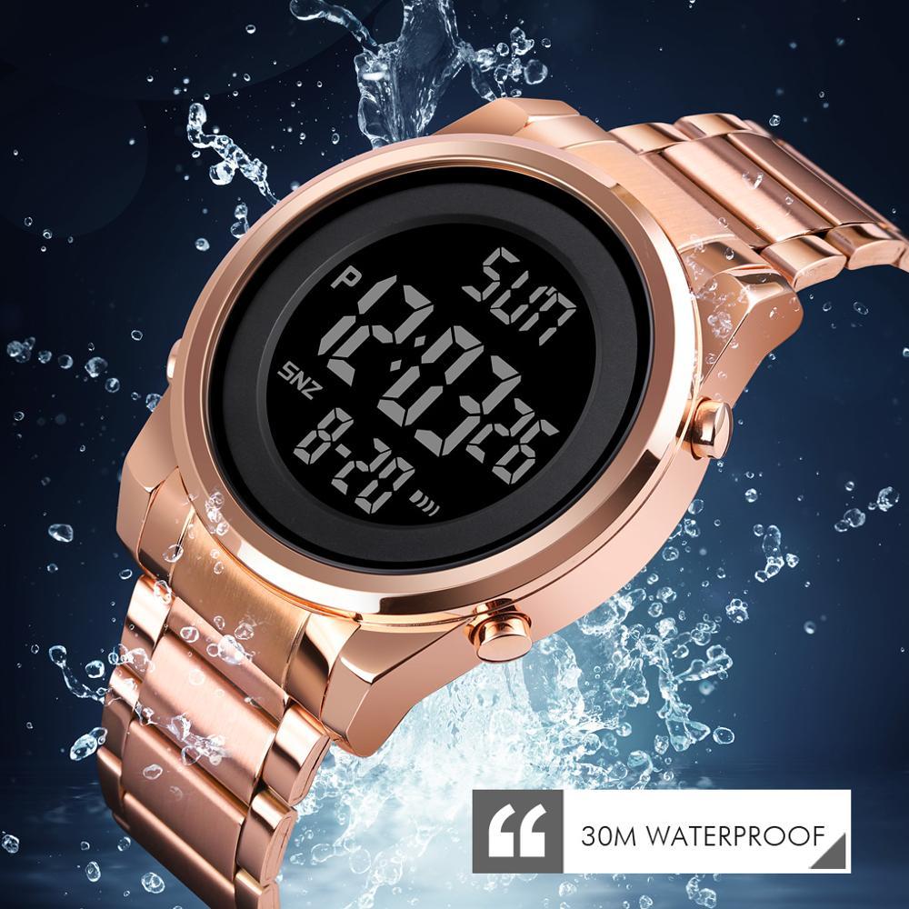 SKMEI Digital Wristwatch LED Display Watch Men Countdown Calendar Alarm Electronic Clock Relojes Para hombre Japan movement Male