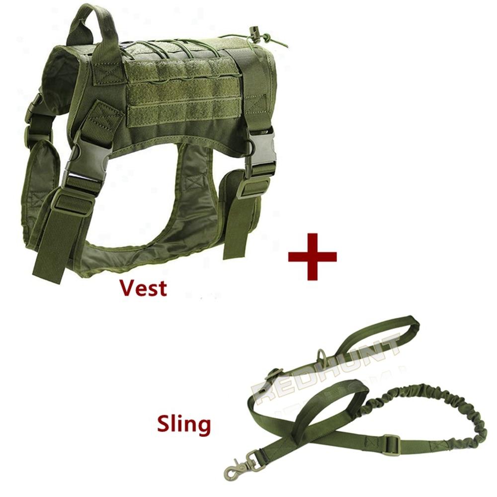 Tactical Dog Molle Vest Harness K9 Service Vest Adjustable Outdoor Training Costume Camouflage Harness
