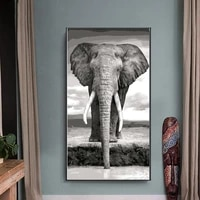 canvas painting hd prints animals oil painting grey elephants picture prints poster wall art prints for living room home decor