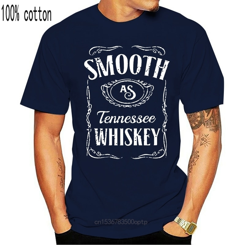 New Smooth As Tennessee Whiskey Chris Stapleton Concert Fan Men's Tops Tee T Shirt Black Gyms Fitness Tops T-Shirt