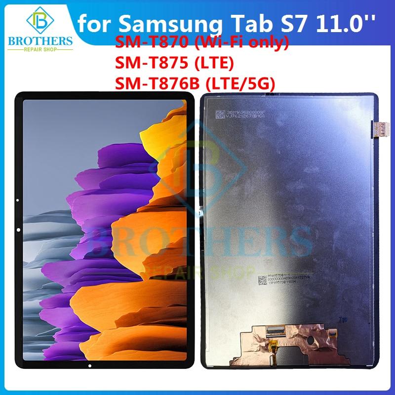 لسامسونج غالاكسي تبويب S7 11 '2020 SM-T870 SM-T875 T876B LCD ديسبالي الجمعية اللوحي LCD شاشة تعمل باللمس محول الأرقام الأصلي