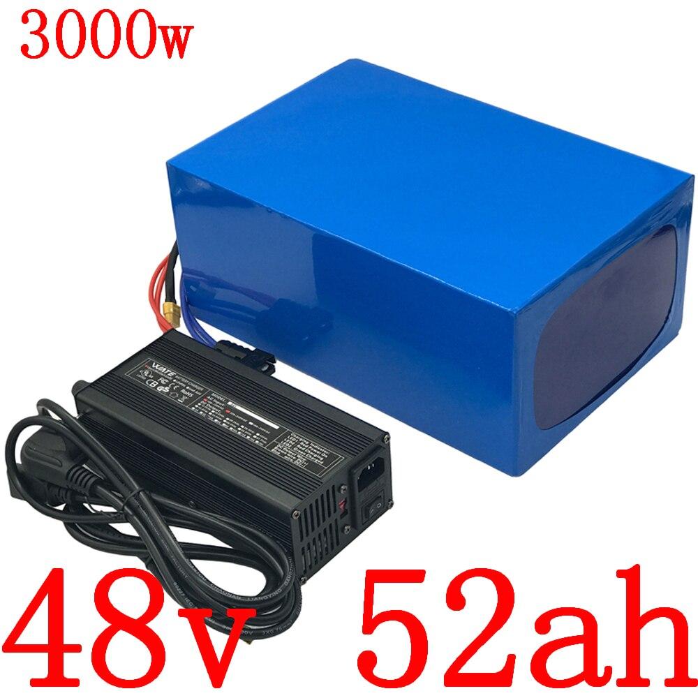 Batería de 48V 48V 50AH batería de bicicleta eléctrica 48V 50AH batería de litio para 48V 1000W 2000W 3000W batería de scooter eléctrico