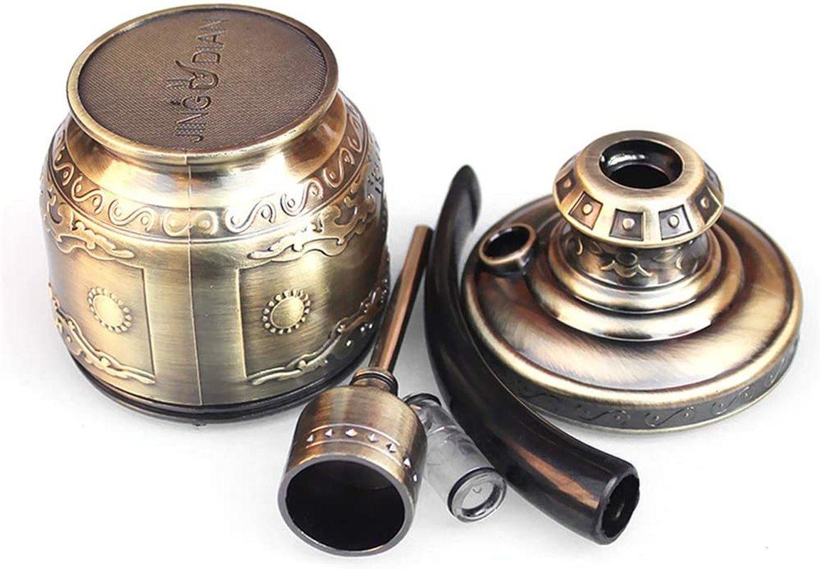 Bronze Water Smoking Pipe Shisha Hookah Cigarette Bottle Holder with Hookah Filter Metal Smoke Tube Detachable Easy to Clean 1pc enlarge