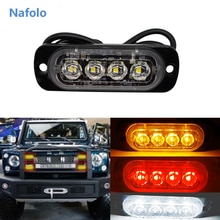 12V 24V Ultra-mince voiture lumières assemblée LED Police lumières LED voiture camion durgence côté stroboscope voyant davertissement voiture-style
