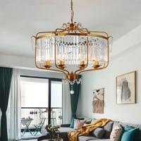 Modern Luxury E14 Gold Black Iron Crystal Glass Led Chandelier Lighting Fixtures for Loft Staircase Living Room Bathroom Lamp