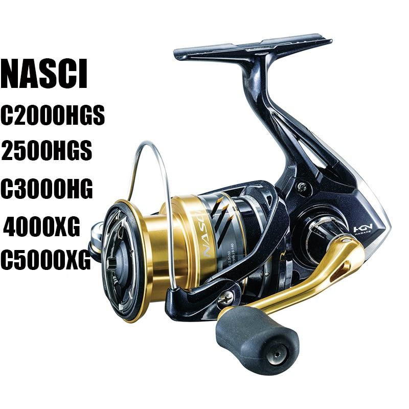 SHIMANO NASCI Original C2000HGS C3000HG 4000XG C5000XG equipo de alta velocidad Ratio 6,0/6,2 carretes de pesca de agua salada