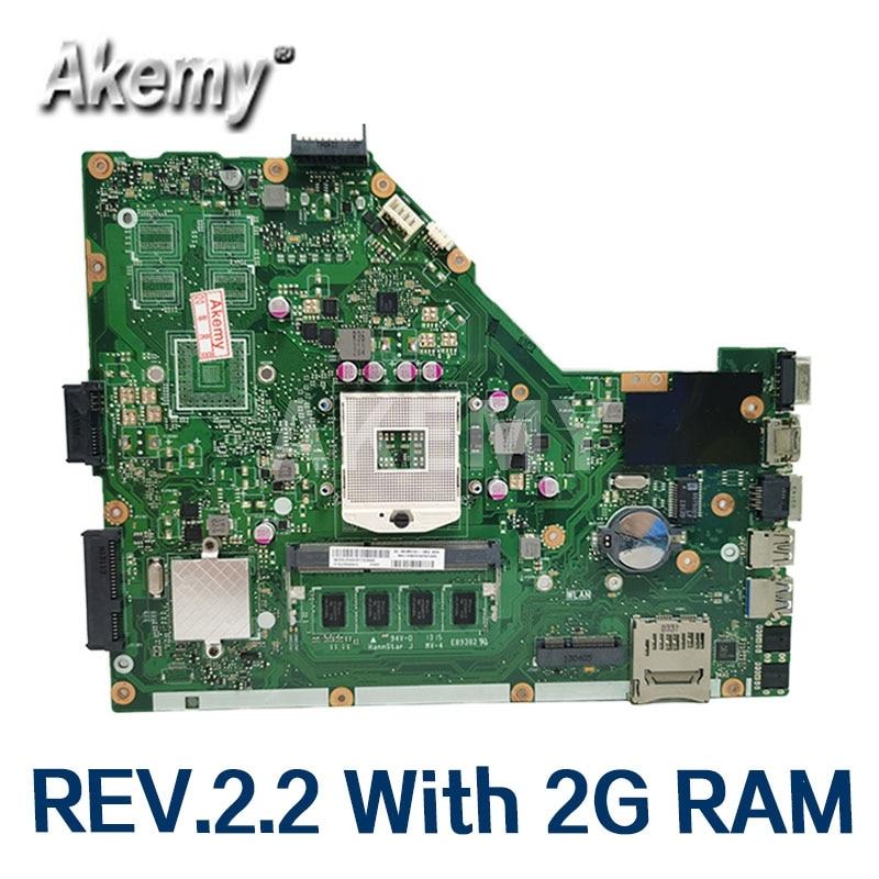 Akemy لوحة أم للكمبيوتر المحمول For Asus X55VD X55C X55CR X55V اللوحة الرئيسية SLJ8E REV.2.2 مع ذاكرة وصول عشوائي 2G