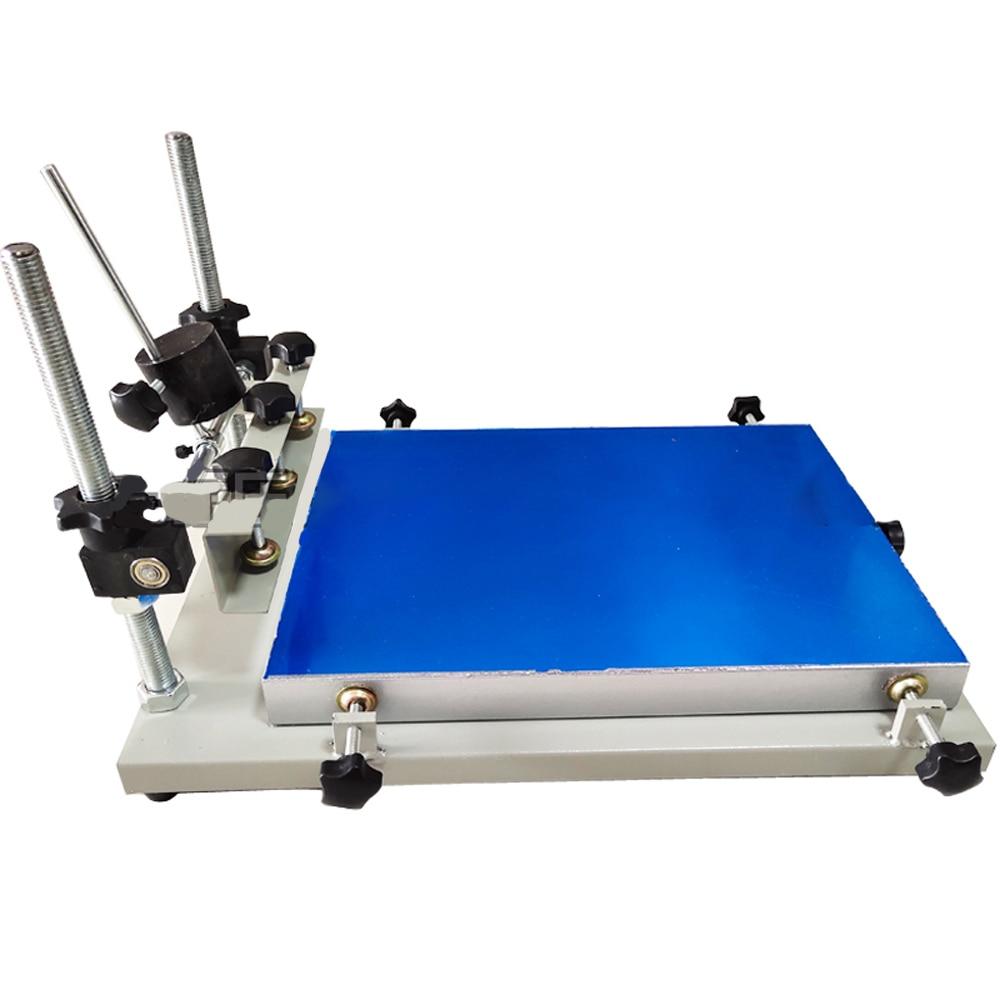 لون واحد دليل طباعة الشاشة المسطحة آلة (45 سنتيمتر x 60 سنتيمتر) الألومنيوم لوحة عالية الجودة