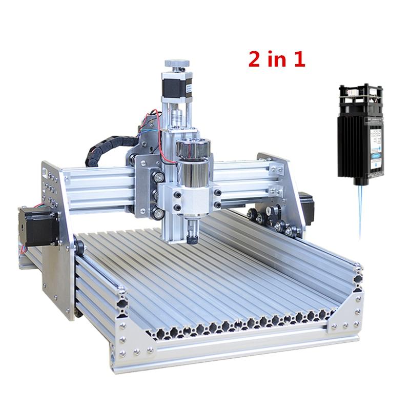 تفكيكها DIY 2030 USB 300W البسيطة CNC راوتر حفارة 500Mw 2500Mw 5500Mw 2 في 1 3020 CNC النقش بالليزر آلة